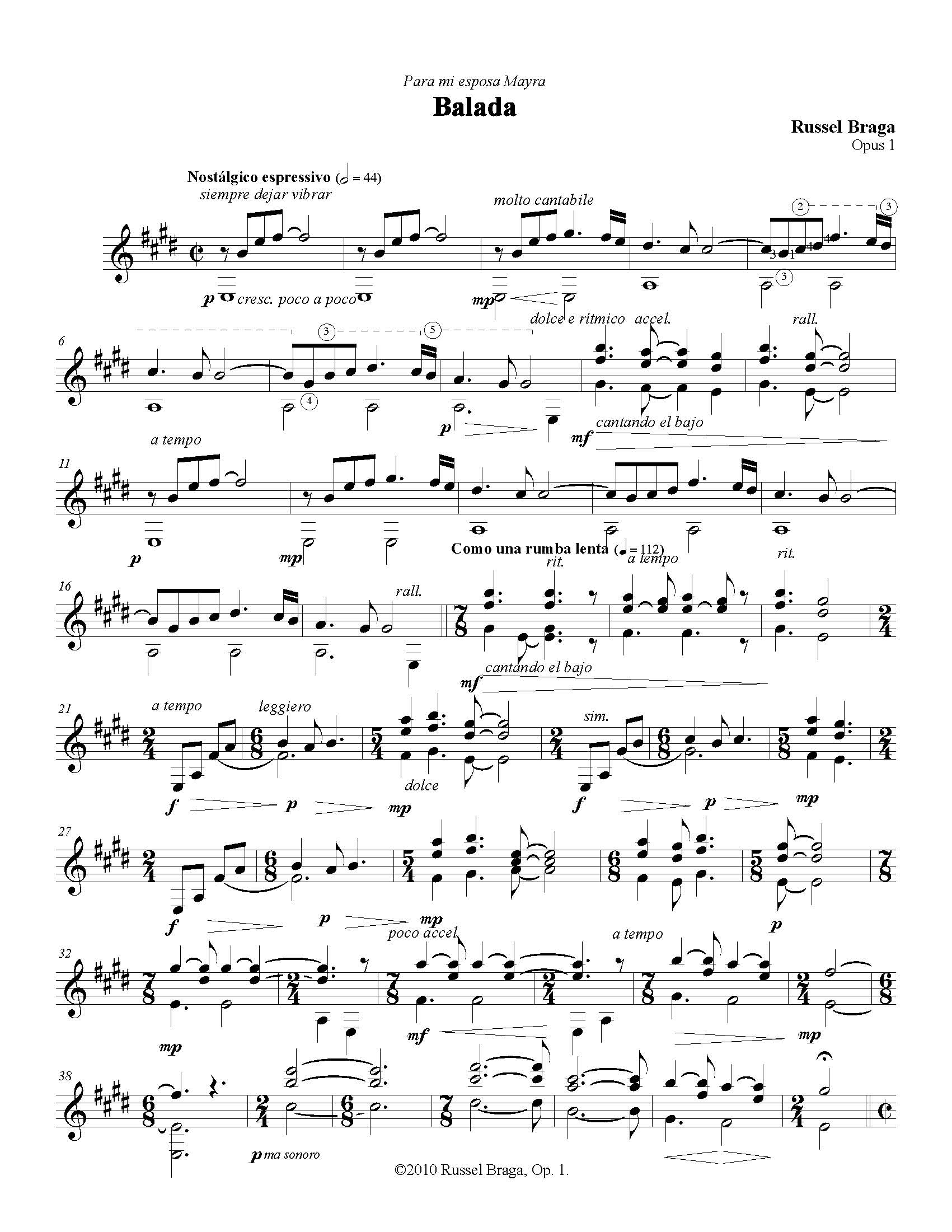 Trovadores yucatecos partitura balada opus 1 para for Partituras de guitarra clasica